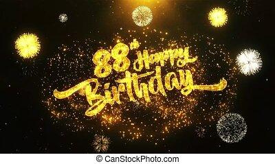 88th Happy Birthday Text Greeting, Wishes, Celebration, invitation Background