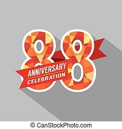 88th, jaren, jubileum, celebration.
