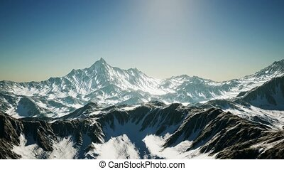 8K Arial Alpine Alps Mountain Landscape - 8K Aerial Alpine...