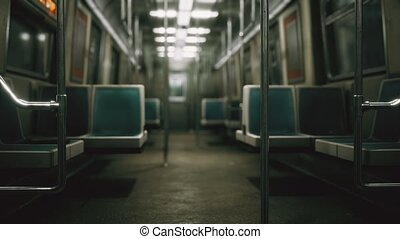 8k Inside of the old non-modernized subway car in USA - 8K ...