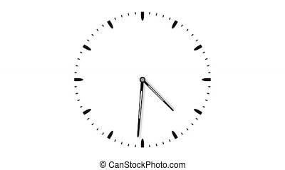 8K UltraHD loopable video animation of timelapse of clock....