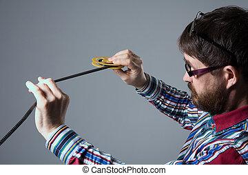 8mm, あごひげを生やしている, 顔つき, フィルム, 人