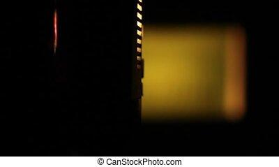 8mm, 전시, 늙은, 투영기, film.