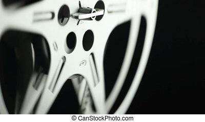 8mm, bobine, pellicule, noir