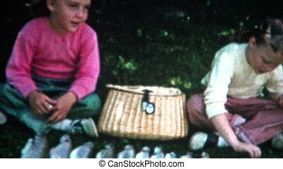 (8mm Film) Girl Fishing Catch on