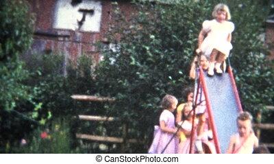 (8mm Film) Girls in Formal Dress
