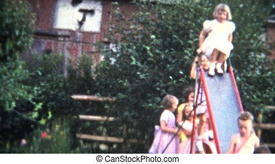 (8mm Film) Girls in Formal Dress - A unique vintage 8mm home...