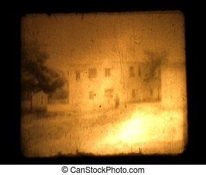 real dust film from 8mm with nature elements