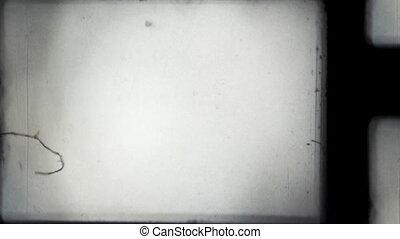 8mm projector film frame offset. Hd, loop (vj)