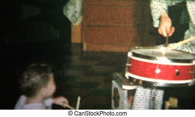 (8mm Vintage) 1965 Dad and Son Play