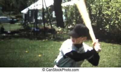 (8mm Vintage) 1966 Boy Practice - Original vintage 8mm home...