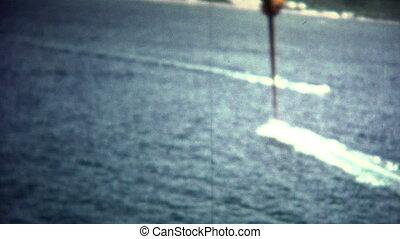 (8mm Vintage) Parasailing Above - A vintage 8mm reel-to-reel...