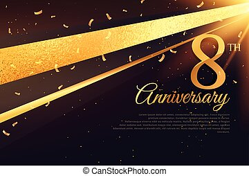 8th anniversary celebration card template