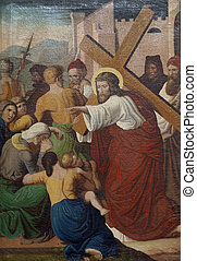 8th Stations of the Cross, Jesus meets the daughters of ...