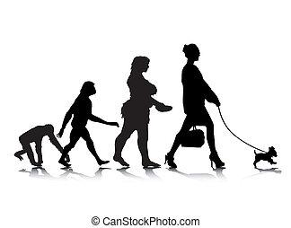 9, évolution, humain