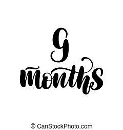 9 , γράμματα , μήνες