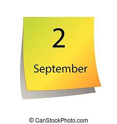9 月, 二番目に