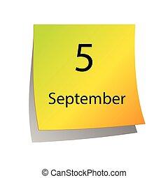 9 月, 第5