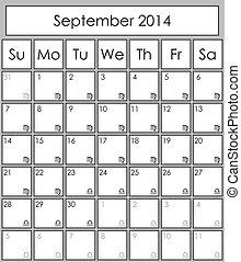 9 月, 2014, 立案者