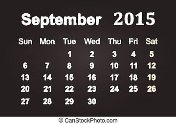 9 月, 2015, 月