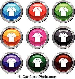 9, 축구, 세트, 셔츠, 수집