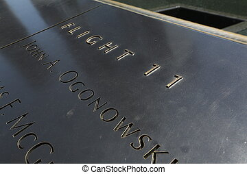 9 11 Memorial fountain plate