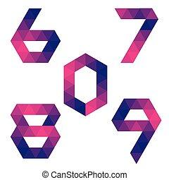 9, 8, シリーズ, 7, 6, 0, 数, 幾何学的