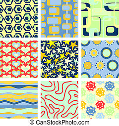 9 Backgrounds - Set of 9 seamless backgrounds