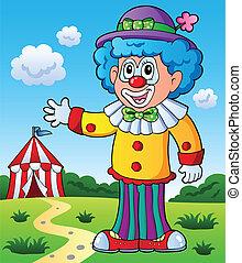 9, bild, thema, clown