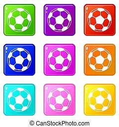 9, boule football, ensemble