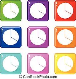 9, círculo, infographic, jogo, mapa