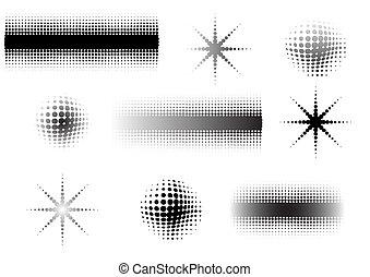 9 Circular Fades 7 - 9 Circular graphic fade elements -...