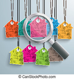 9 Colored Price Sticker Loupe - Colored house price stickers...