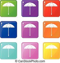 9, ensemble soleil, parapluie