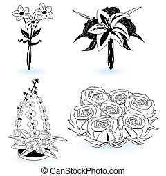 9, fiori, collezione