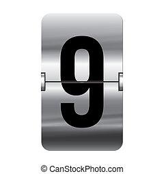 9, flipboard, -, argento, numero
