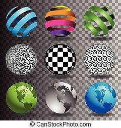 9, globes