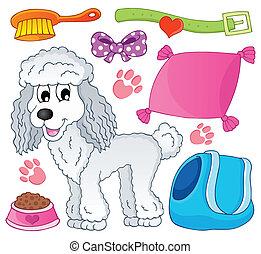 9, imagem, tema, cão