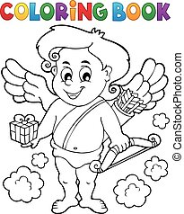 9, libro colorante, cupido