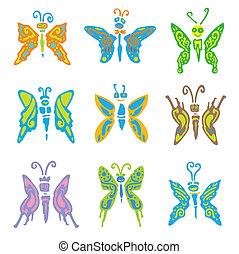 9 set butterfly