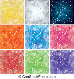 9 Shining Abstract Background