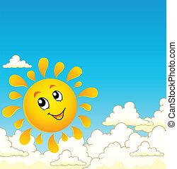 9, sol, tema, imagem