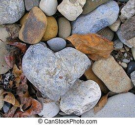 9, szív, kő