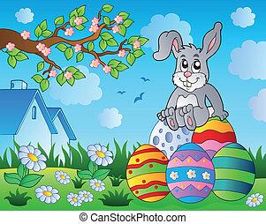 9, thème, lapin pâques, image