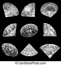 9, Trayectoria, Recorte, Conjunto, diamantes