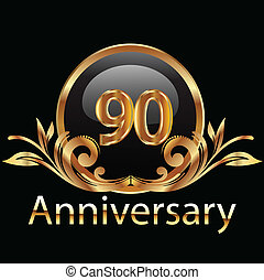 90 anniversary happy birthday vector design