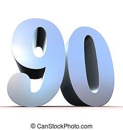90, -, argento, numero
