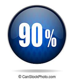 90 % internet blue icon