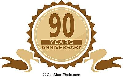 90, jubileum, lint, jaren