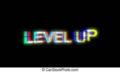 90, minimal, activer, haut, concept, niveau, idée, glitch